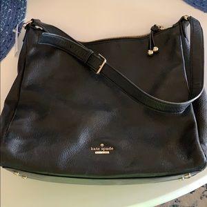 Kate spade soft genuine black leather bag